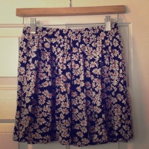 Brandy Melville Floral Multicolor Skirt One Size